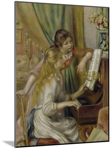 Two Girls at the Piano, c.1892-Pierre-Auguste Renoir-Mounted Giclee Print