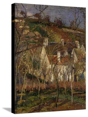 The Red Roofs, c.1877-Camille Pissarro-Stretched Canvas Print