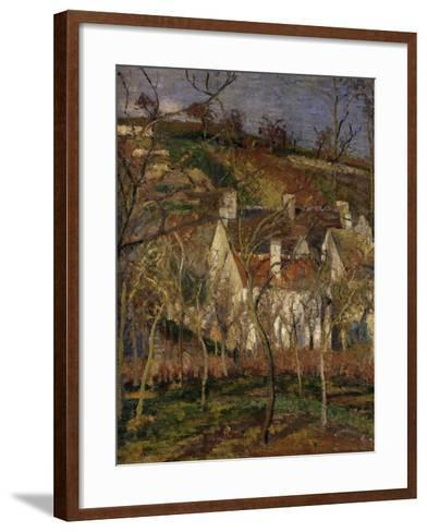 The Red Roofs, c.1877-Camille Pissarro-Framed Art Print