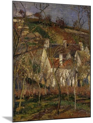 The Red Roofs, c.1877-Camille Pissarro-Mounted Giclee Print