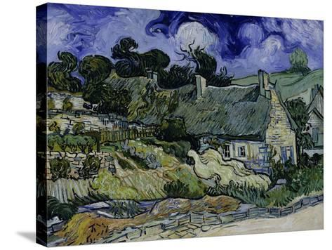 Straw-Decked Houses in Auvers-Sur-Oise, c.1890-Vincent van Gogh-Stretched Canvas Print