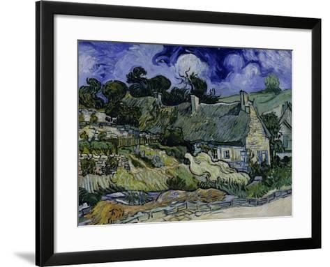Straw-Decked Houses in Auvers-Sur-Oise, c.1890-Vincent van Gogh-Framed Art Print