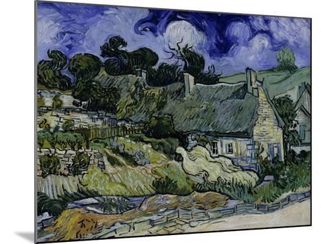 Straw-Decked Houses in Auvers-Sur-Oise, c.1890-Vincent van Gogh-Mounted Giclee Print