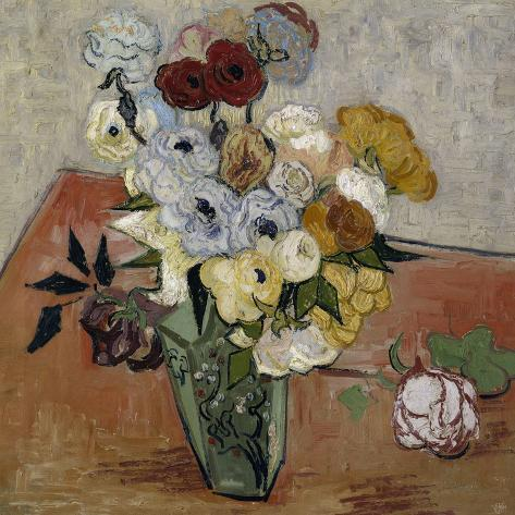 Still-Life with Japanese Vase, c.1890-Vincent van Gogh-Stretched Canvas Print