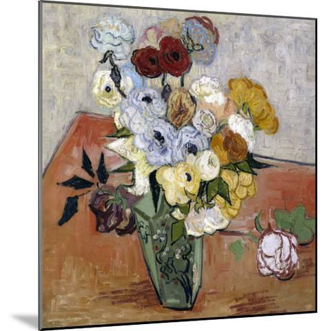 Still-Life with Japanese Vase, c.1890-Vincent van Gogh-Mounted Giclee Print