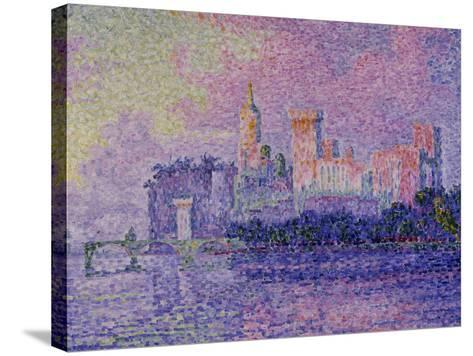 Papal Palace in Avignon, c.1900-Paul Signac-Stretched Canvas Print