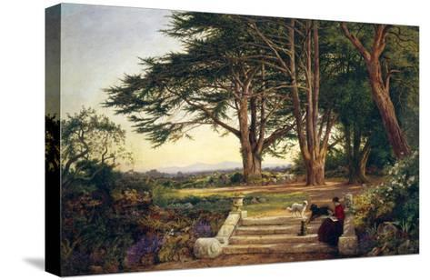 Reading on the Terrace Steps-Benjamin Williams Leader-Stretched Canvas Print