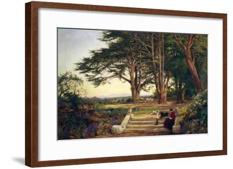 Reading on the Terrace Steps-Benjamin Williams Leader-Framed Art Print