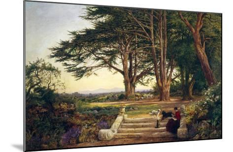 Reading on the Terrace Steps-Benjamin Williams Leader-Mounted Giclee Print