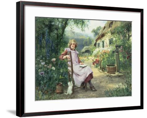 In the Garden-Henry John Yeend King-Framed Art Print