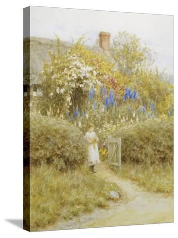 At the Cottage Gate-Helen Allingham-Stretched Canvas Print