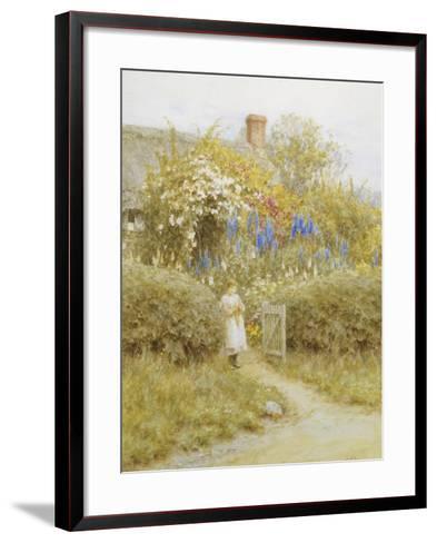 At the Cottage Gate-Helen Allingham-Framed Art Print