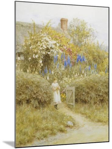 At the Cottage Gate-Helen Allingham-Mounted Giclee Print