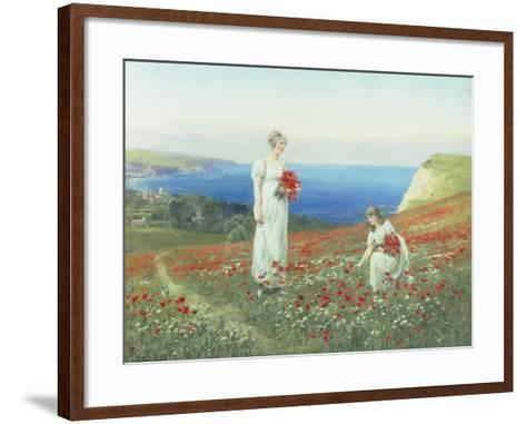 Gathering Poppies-Henry John Yeend King-Framed Art Print