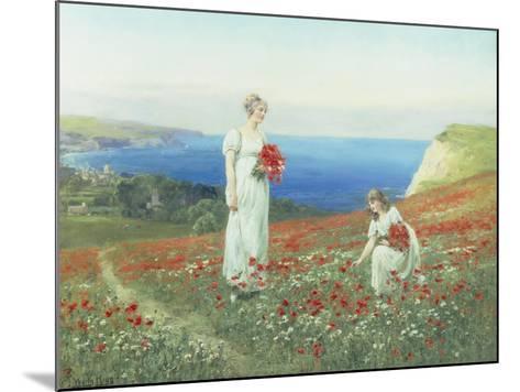 Gathering Poppies-Henry John Yeend King-Mounted Giclee Print