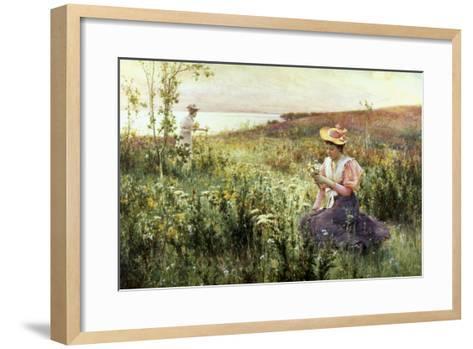 Gathering Wild Flowers-Alfred Augustus Glendenning-Framed Art Print