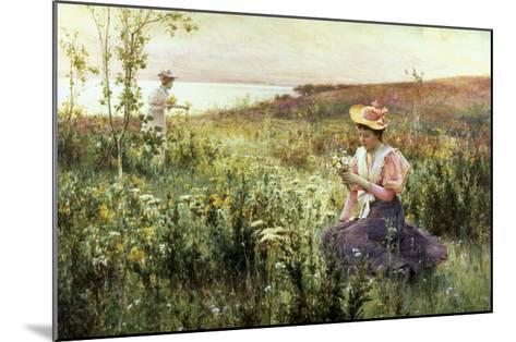 Gathering Wild Flowers-Alfred Augustus Glendenning-Mounted Giclee Print