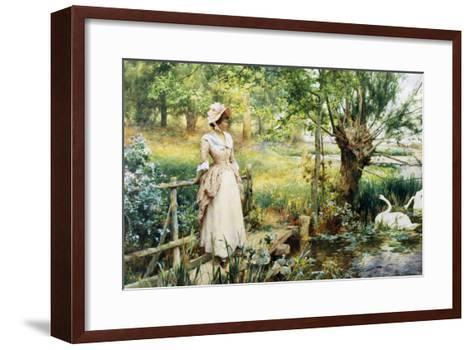 Reverie by the River-Alfred Augustus Glendenning-Framed Art Print