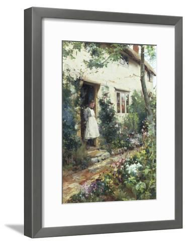 Pretty Cottage Garden-Alfred Augustus Glendenning-Framed Art Print