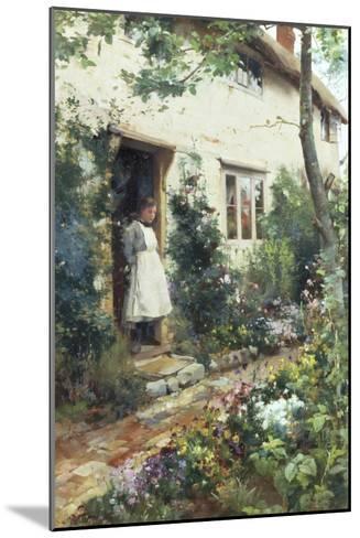 Pretty Cottage Garden-Alfred Augustus Glendenning-Mounted Giclee Print