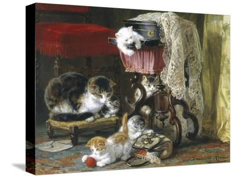 Mischief Makers-Henriette Ronner Knip-Stretched Canvas Print