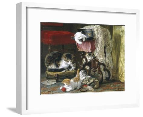Mischief Makers-Henriette Ronner Knip-Framed Art Print