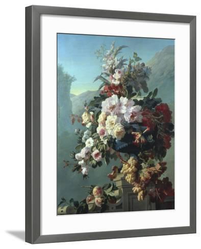 Still Life of Flowers on a Terrace-Pierre Bourgogne-Framed Art Print