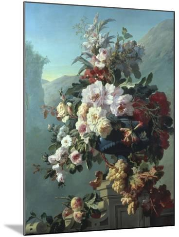 Still Life of Flowers on a Terrace-Pierre Bourgogne-Mounted Giclee Print