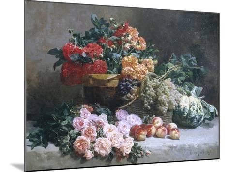 Rich Still Life of Fruit and Flowers-Pierre Bourgogne-Mounted Giclee Print
