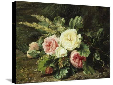 Study of Roses-Gerardina Jacoba Backhuysen-Stretched Canvas Print