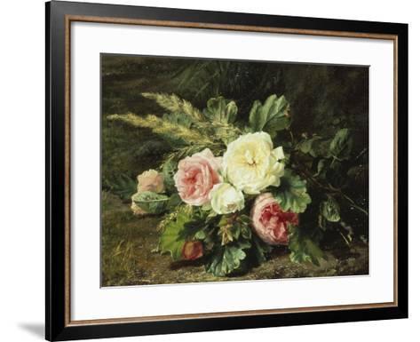 Study of Roses-Gerardina Jacoba Backhuysen-Framed Art Print