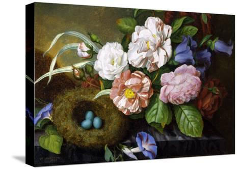 Still Life of Camelias-Woodleigh Marx Hubbard-Stretched Canvas Print