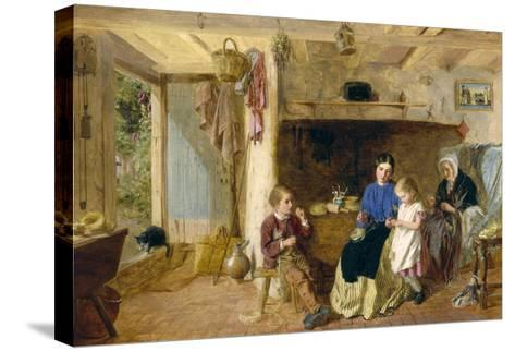 Helping Mother-G. W. Brownlow-Stretched Canvas Print