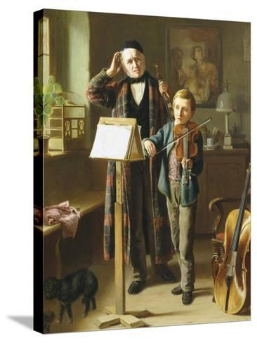 The Music Lesson-Just Jean Christian Halm-Stretched Canvas Print