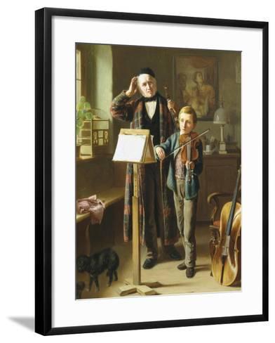 The Music Lesson-Just Jean Christian Halm-Framed Art Print