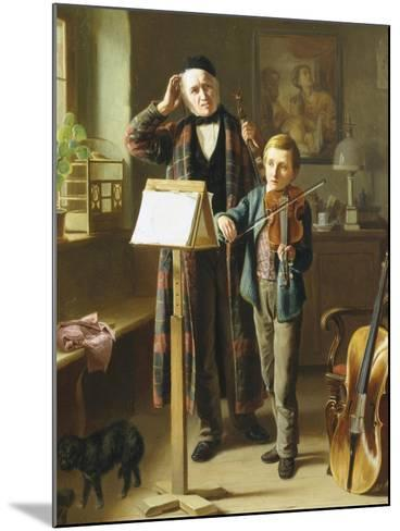 The Music Lesson-Just Jean Christian Halm-Mounted Giclee Print