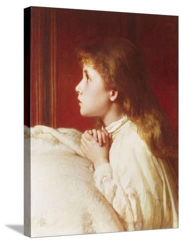 Prayer-Henry Le Jeune-Stretched Canvas Print
