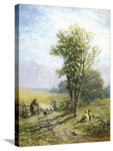 Beautiful Summer's Day-James John Hill-Stretched Canvas Print