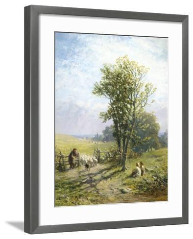 Beautiful Summer's Day-James John Hill-Framed Art Print