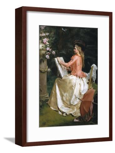 The Artist in the Garden-Gustave Jean Jacquet-Framed Art Print
