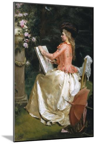 The Artist in the Garden-Gustave Jean Jacquet-Mounted Giclee Print