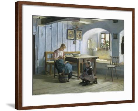 Making Apple Pie-Gustav August Hessl-Framed Art Print