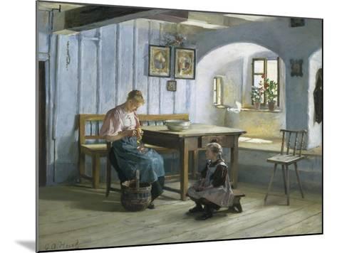 Making Apple Pie-Gustav August Hessl-Mounted Giclee Print