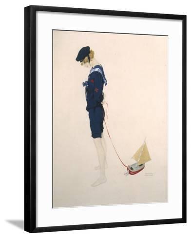 Sailor Girl-Ernst Ludwig Kirchner-Framed Art Print