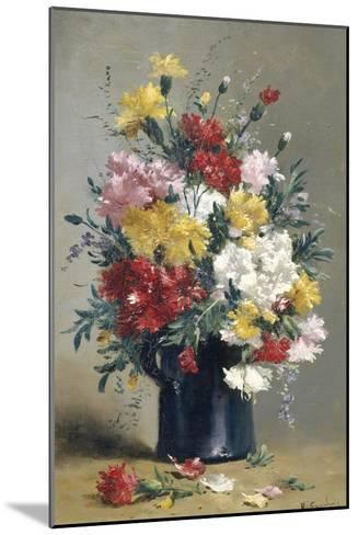 Still Life of Carnations-Eugene Henri Cauchois-Mounted Giclee Print