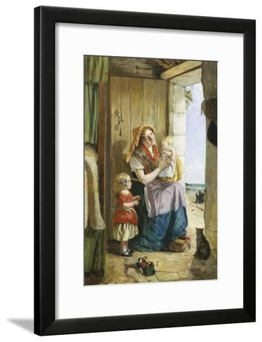 Cottage by the Sea-John Burr-Framed Art Print