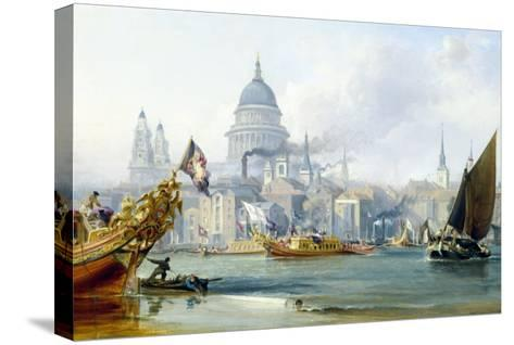 St. Paul's Cathedral and the City of London-George Chambers-Stretched Canvas Print