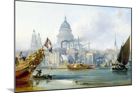 St. Paul's Cathedral and the City of London-George Chambers-Mounted Giclee Print