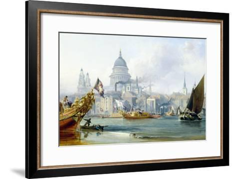 St. Paul's Cathedral and the City of London-George Chambers-Framed Art Print