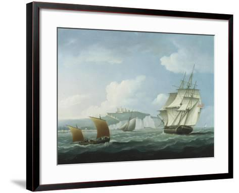 Shipping off Dover Castle-Thomas Buttersworth-Framed Art Print